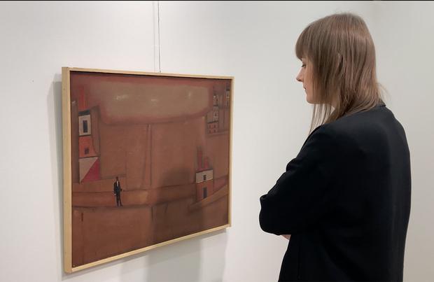 Jerzy Nowosielski, pejzaż, miejska galeria sztuki w Łodzi, niezła sztuka