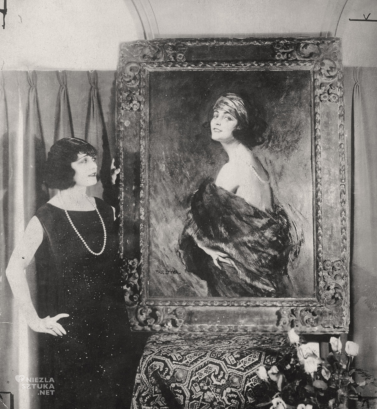 Pola Negri, Tadeusz Styka, portret, Niezła Sztuka
