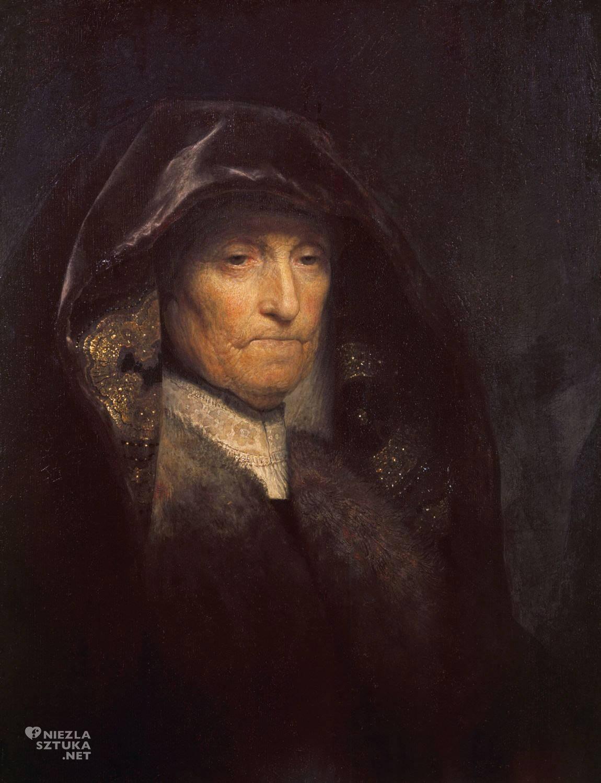 Rembrandt van Rijn, matka artysty, portret, niezła sztuka