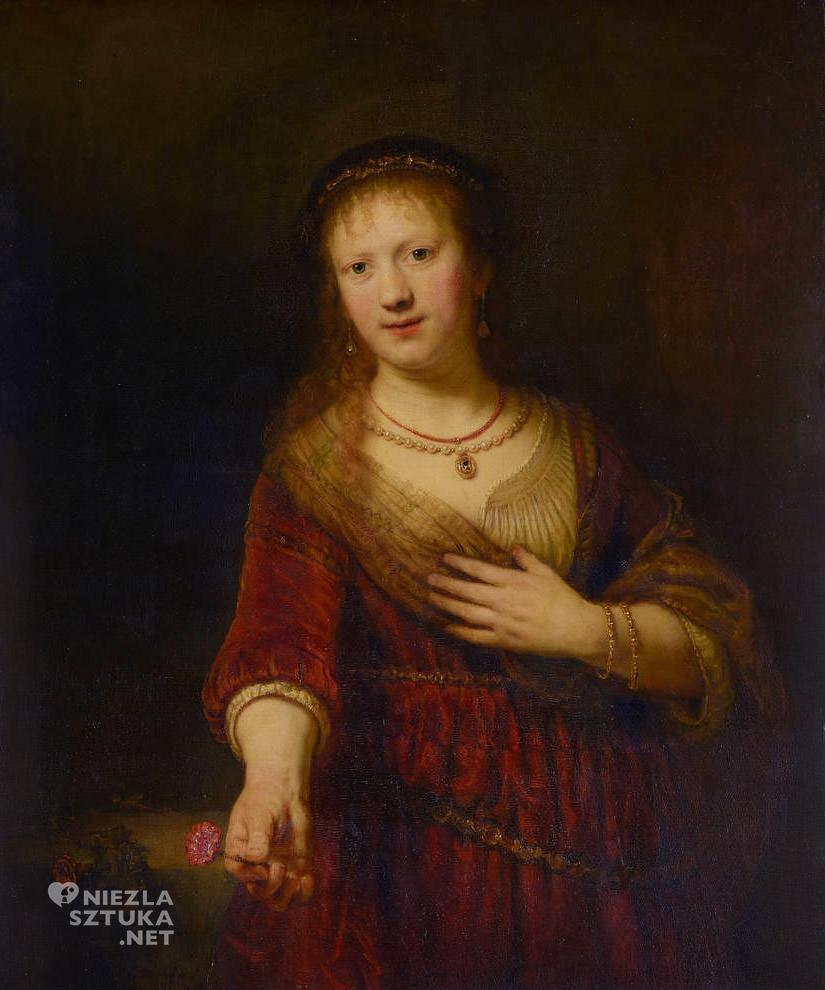 Saskia, Rembrandt, Gemäldegalerie Alte Meister, Drezno, niezła sztuka