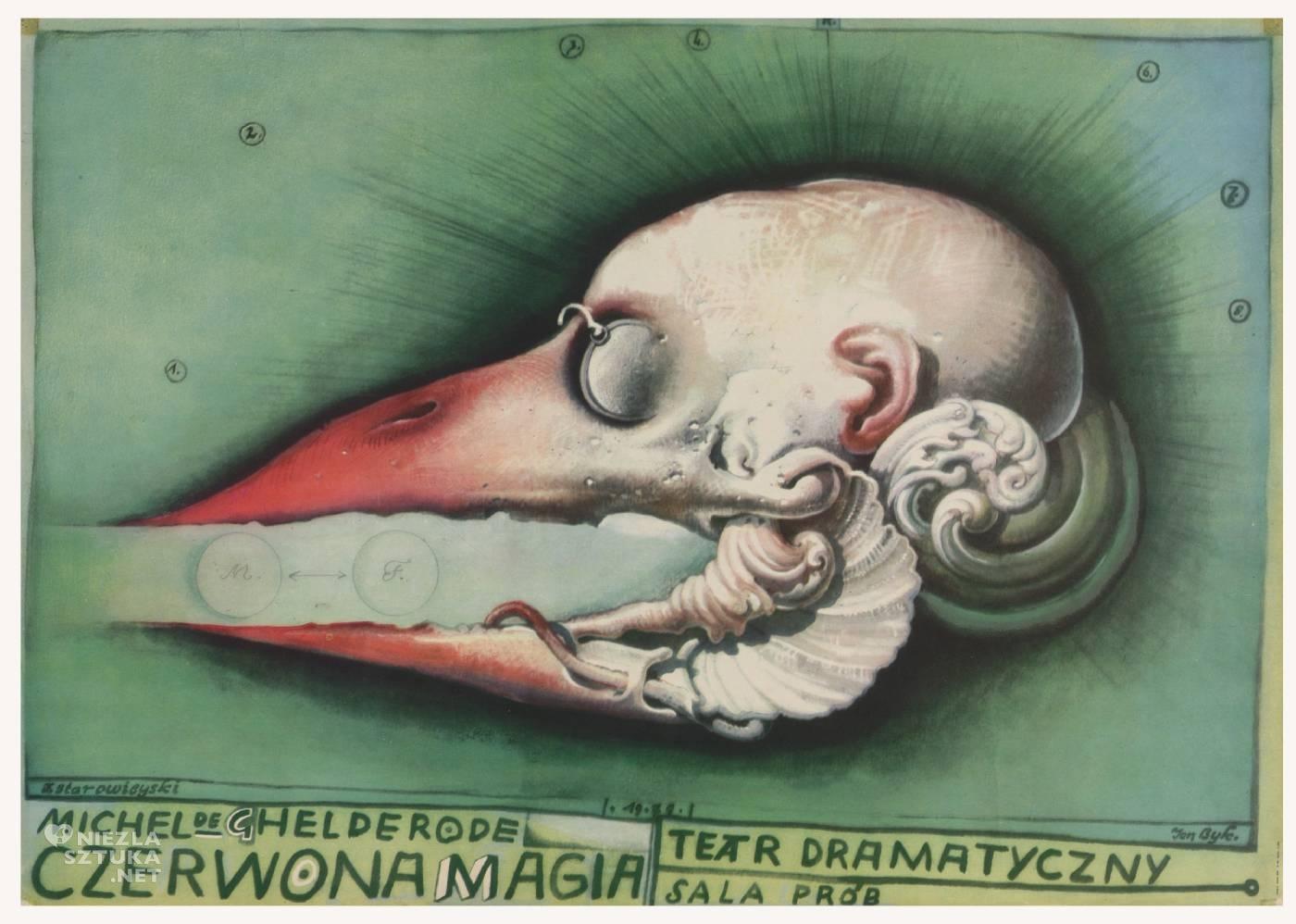 Franciszek Starowieyski, Czerwona magia, poster, plakat, teatr, niezła sztuka