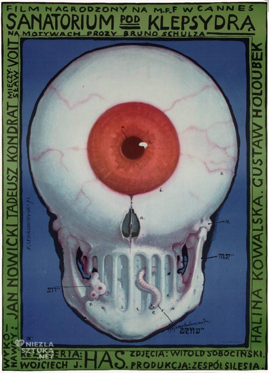 Franciszek Starowieyski, Bruno Schulz, Sanatorium pod klepsydrą, poster, plakat, teatr, niezła sztuka