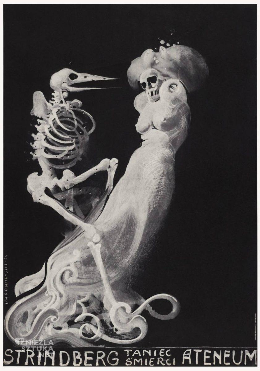 Franciszek Starowieyski, Taniec śmierci, poster, plakat, teatr, niezła sztuka