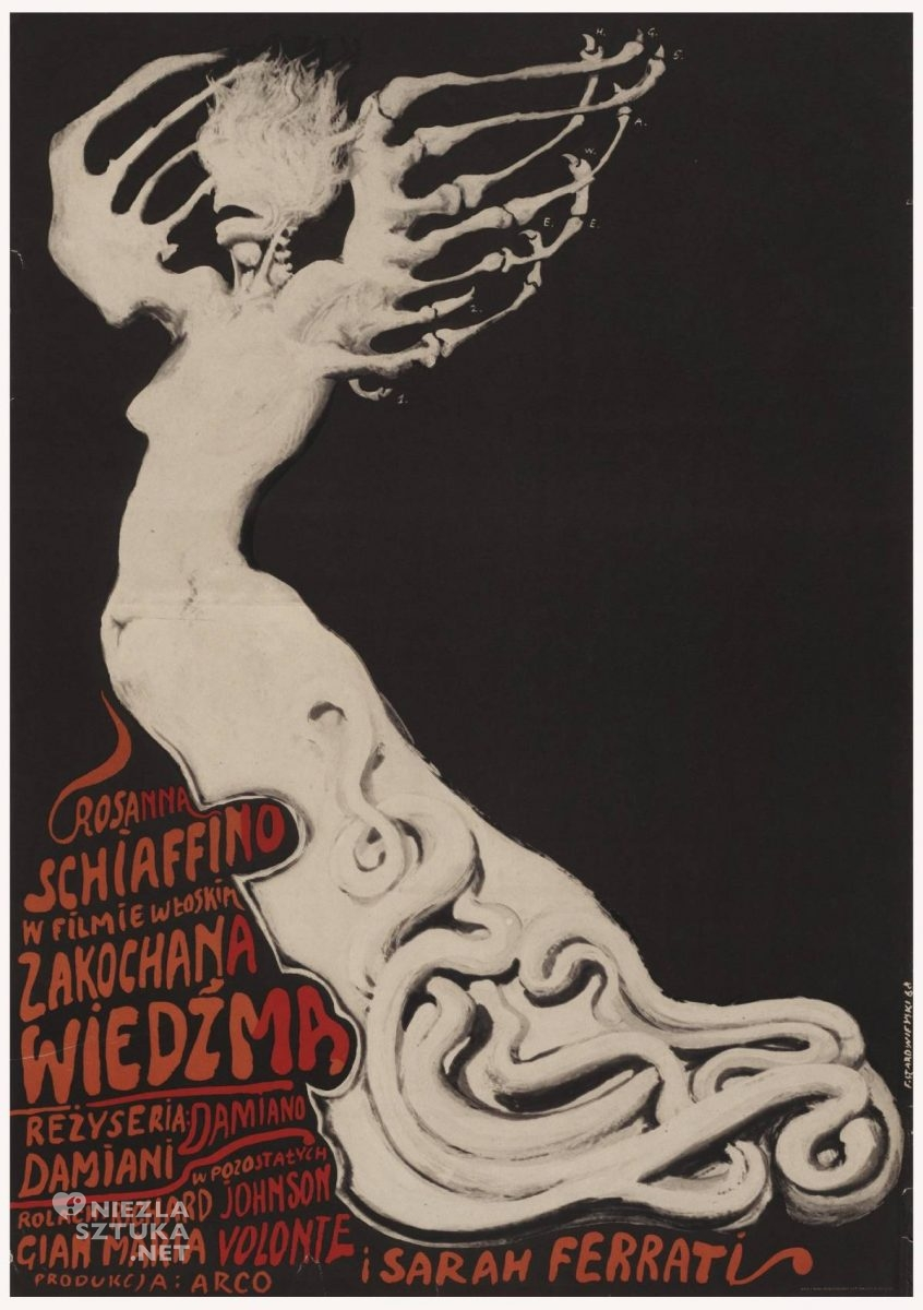 Franciszek Starowieyski, Zakochana wiedźma, poster, plakat, teatr, niezła sztuka