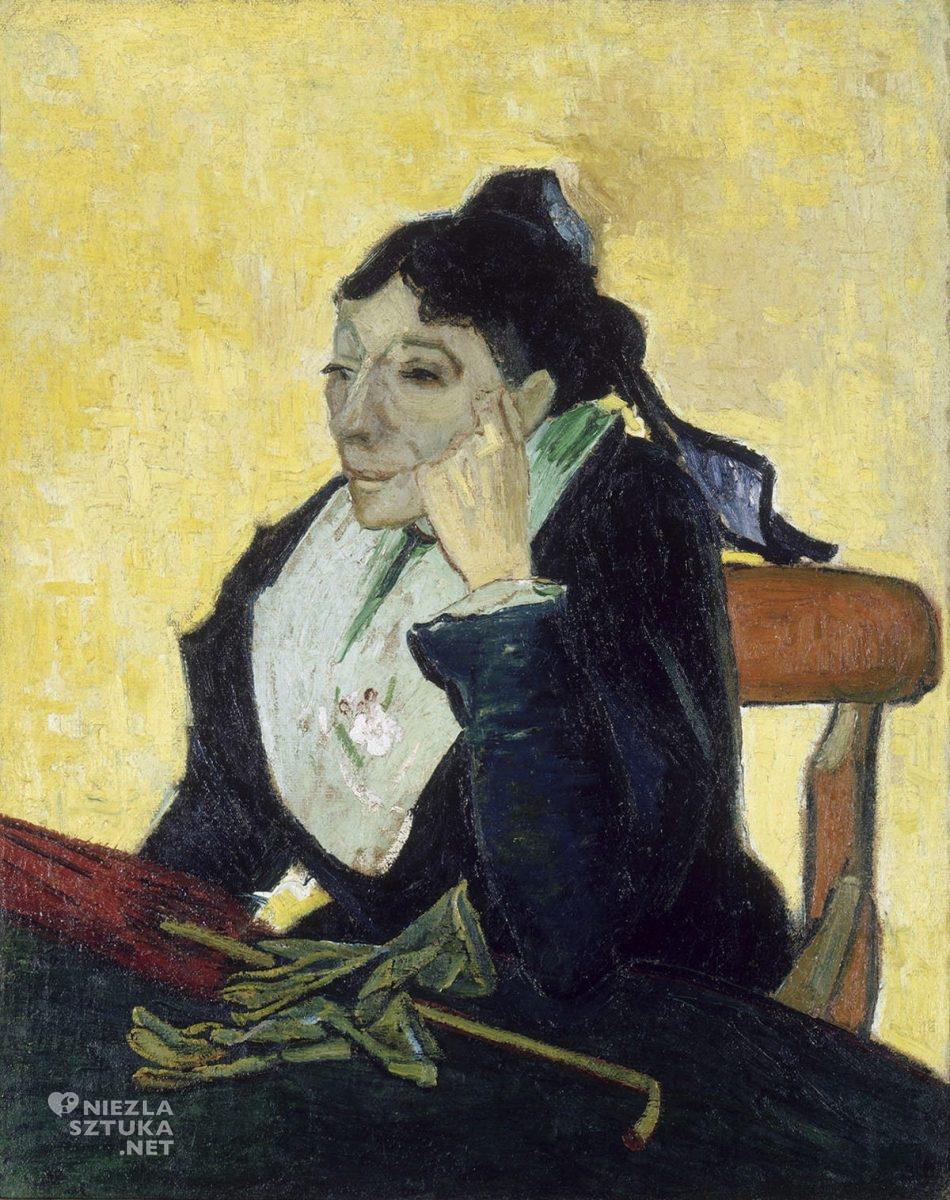 Vincent van Gogh, Arlezjanka, Pani Ginoux w rękawiczkach i z parasolką, Arles, Niezła Sztuka