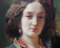 Franz Xaver Winterhalter, Katarzyna Branicka Potocka, Portret Katarzyny z Branickich Potockiej w stroju orientalnym, niezła sztuka