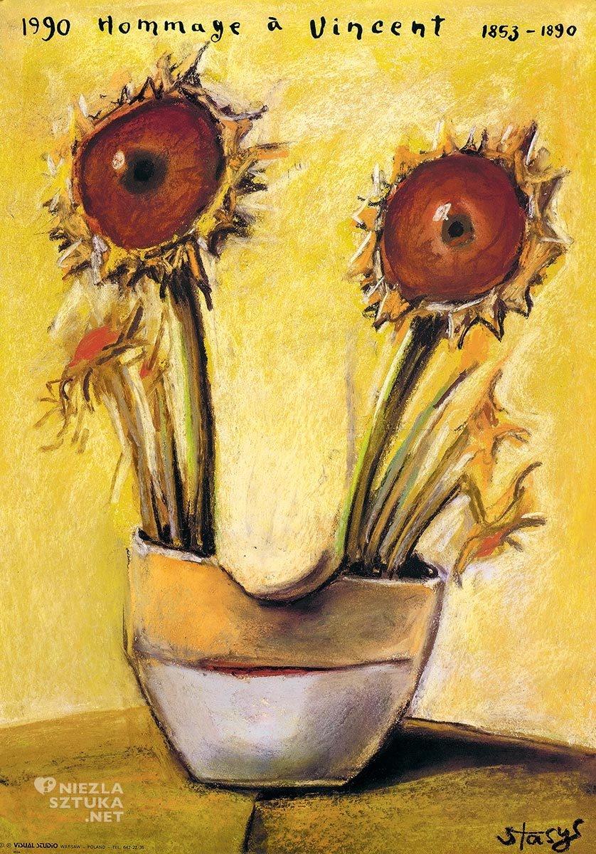 Stasys Eidrigevičius, Hommage à Vincent, sztuka współczesna, plakat, Vincent van Gogh, Niezła Sztuka