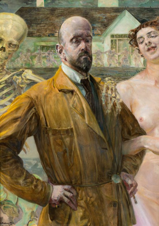 Jacek Malczewski, Autoportret, śmierć, thanatos, niezła sztuka