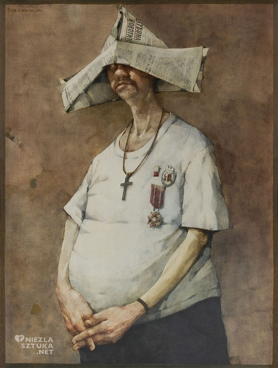 Jerzy Duda-Gracz, Autoportret, malarstwo, sztuka polska, niezła sztuka