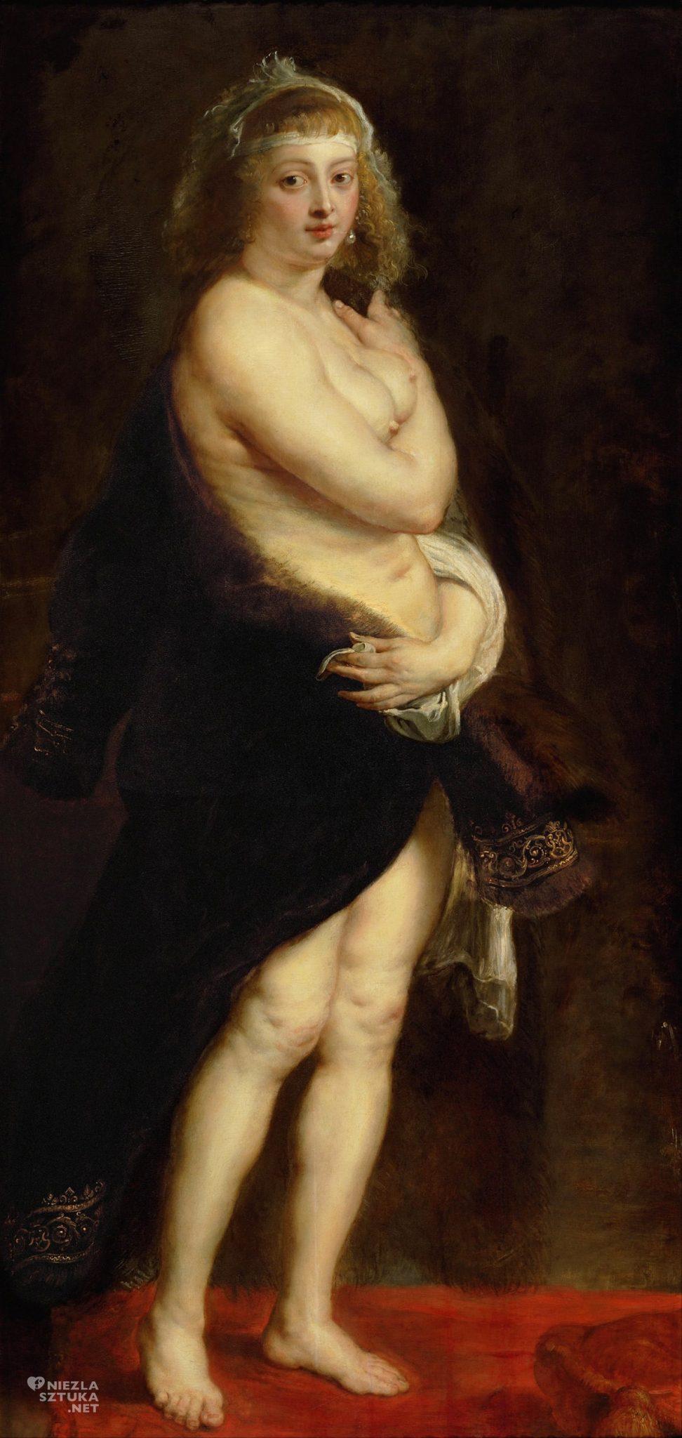 Peter Paul Rubens, Helena Fourment, Portret Heleny Fourment w futrze, portret żony w futrze, malarstwo flamandzkie, niezła sztuka