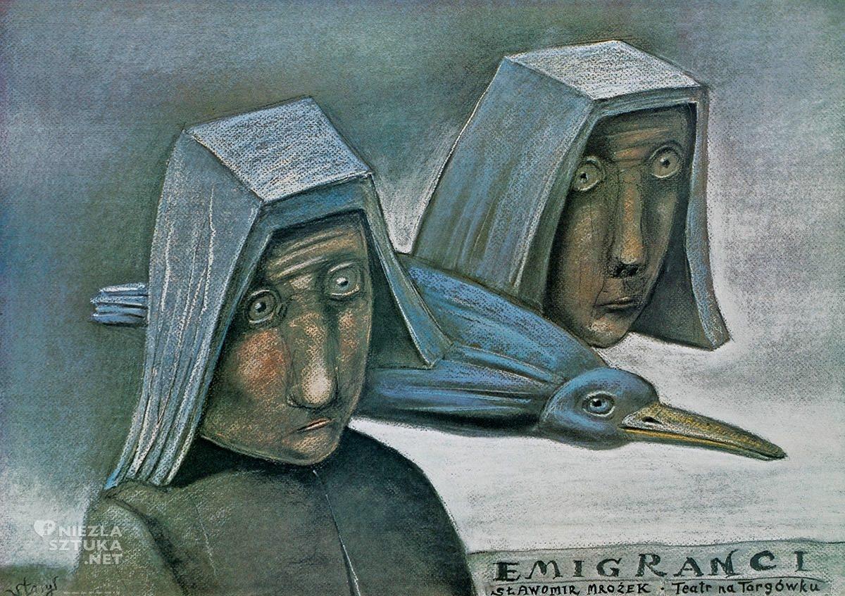 Stasys Eidrigevičius, plakat, plakat teatralny, Sławomir Mrożek, Niezła Sztuka