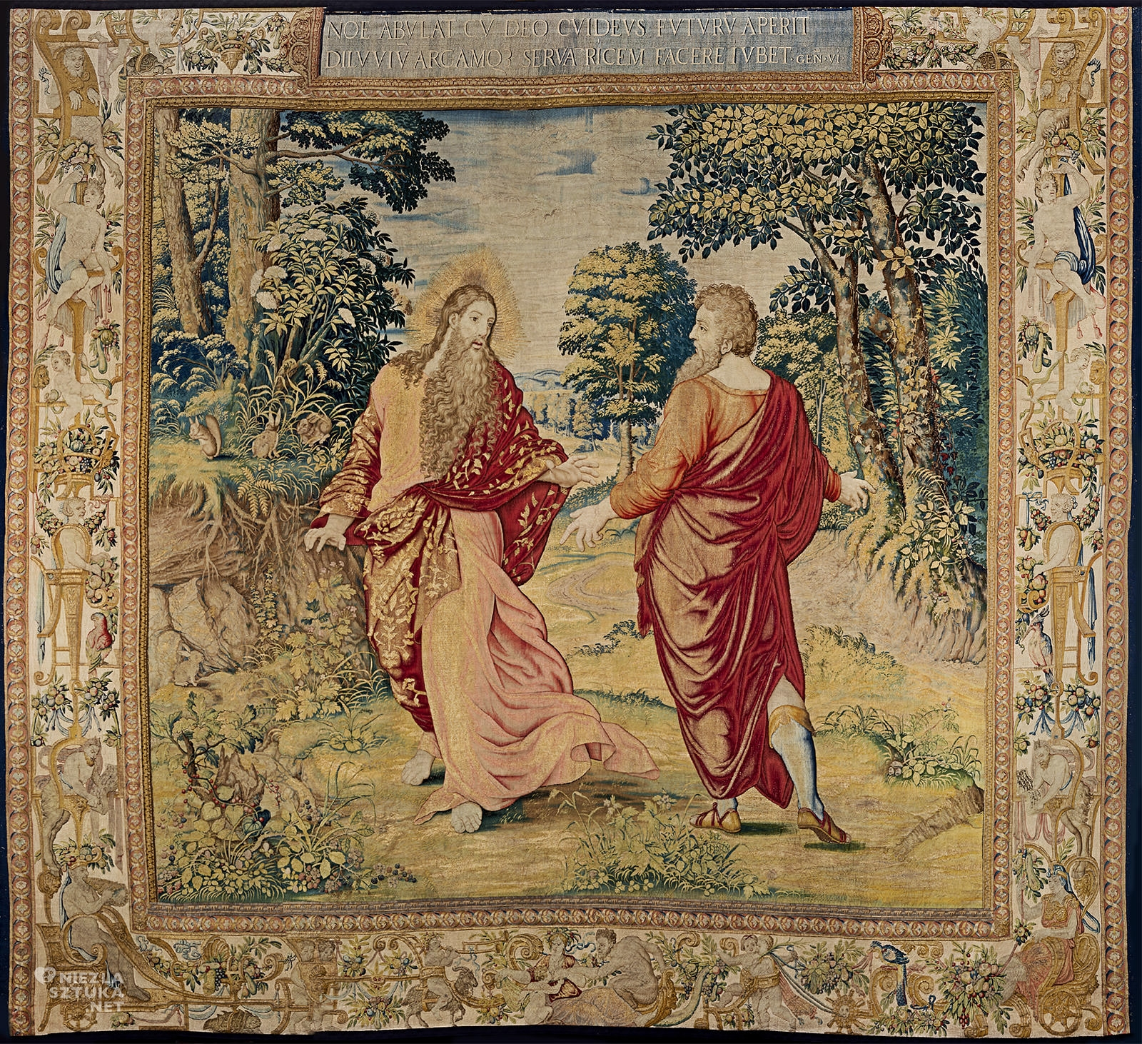 Arrasy wawelskie, arras, Noe, tkaniny królewskie, zamek królewski na Wawelu, król Zygmunt August, niezła sztuka