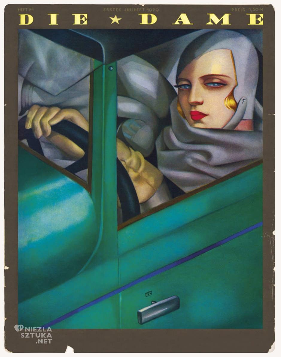 Tamara Łempicka, Tamara de Lempicka, Die Dame, Autoportret w zielonym bugatti, kobiety w sztuce, Niezła Sztuka