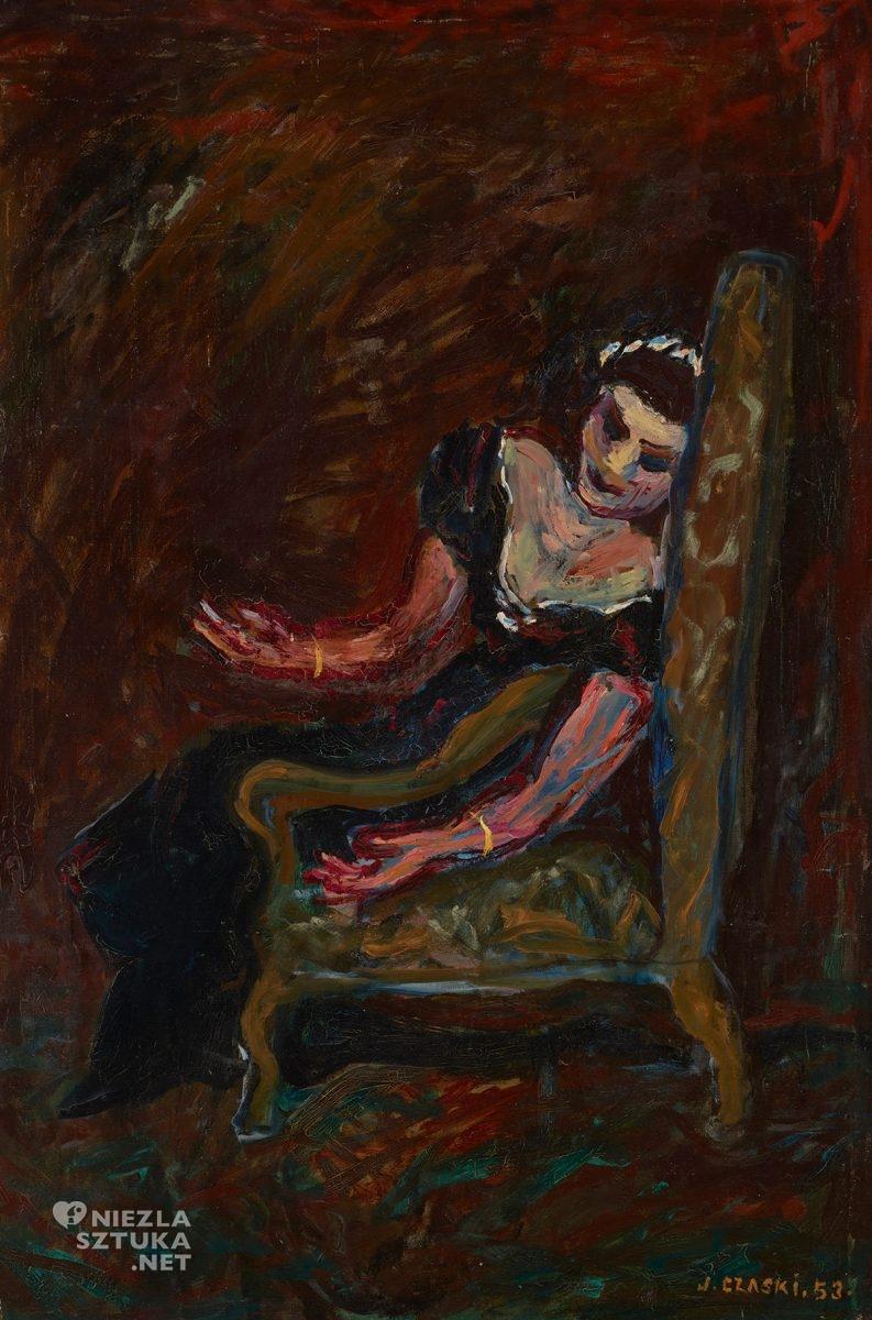 Józef Czapski, Patrycja Newey w Tosce, malarstwo polskie, malarstwo XXw., portret, Niezła Sztuka