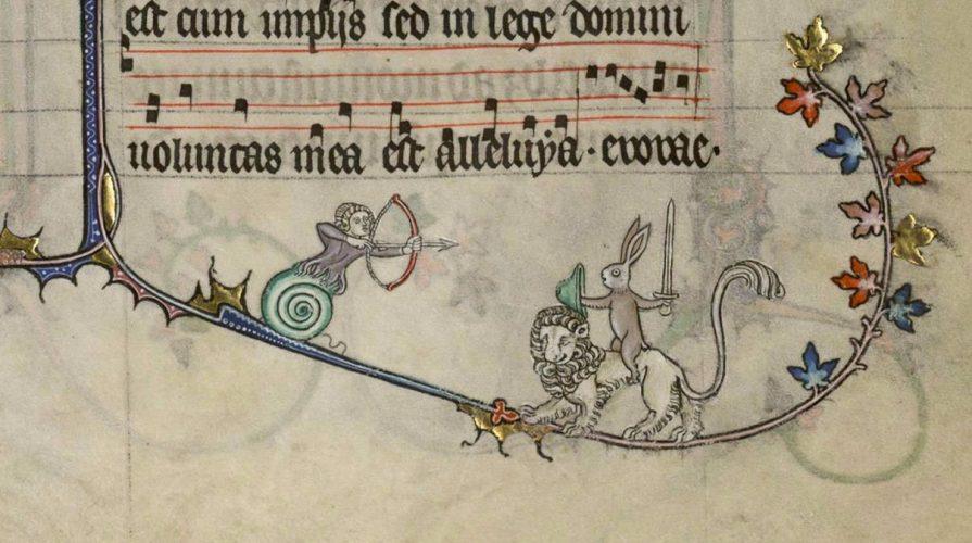 średniowiecze, zwierzęta, iluminacje, manuskrypt, niezła sztuka