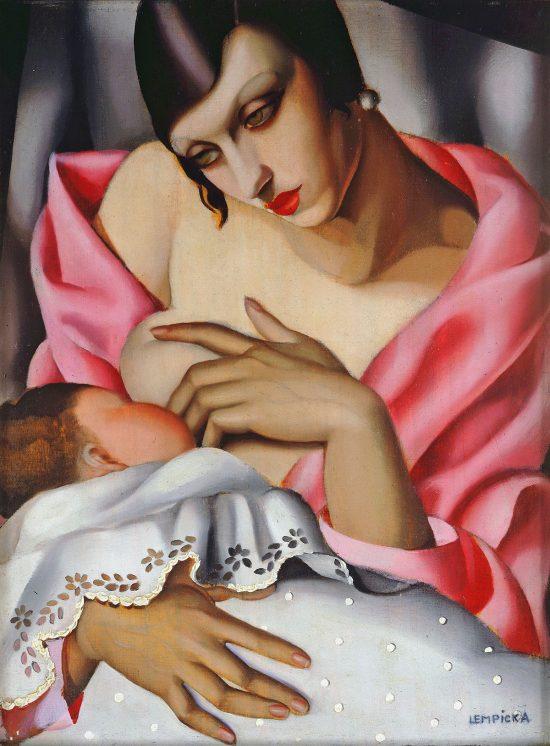 Tamara Łempicka, Tamara de Lempicka, Macierzyństwo, kobiety w sztuce, art deco, Niezła Sztuka