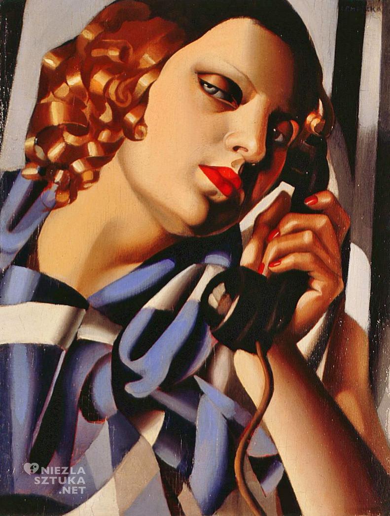 Tamara Łempicka, Telefon, Tamara de Lempicka, kobiety w sztuce, art deco, Niezła Sztuka