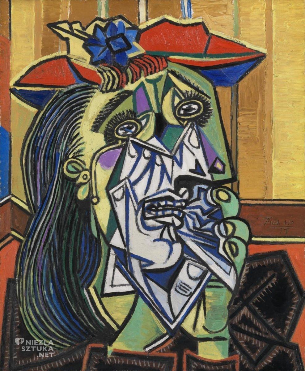 Pablo Picasso, Płacząca kobieta, Dora Maar, kubizm, Niezła Sztuka
