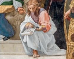 Stanze Watykańskie, Rafael Santi, Dysputa o Najświętszym Sakramencie, fresk, niezła sztuka