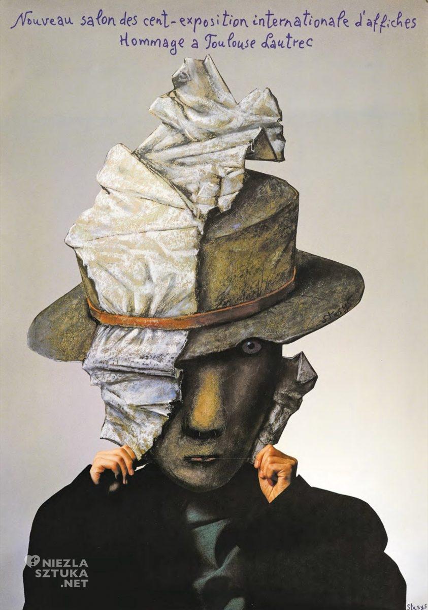 Stasys Eidrigevičius, Hommage à Toulouse-Lautrec, plakat, grafika, sztuka współczesna, Niezła Sztuka