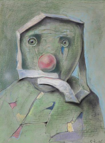 Stasys Eidrigevičius, Głowa, sztuka współczesna, pastel, Niezła Sztuka