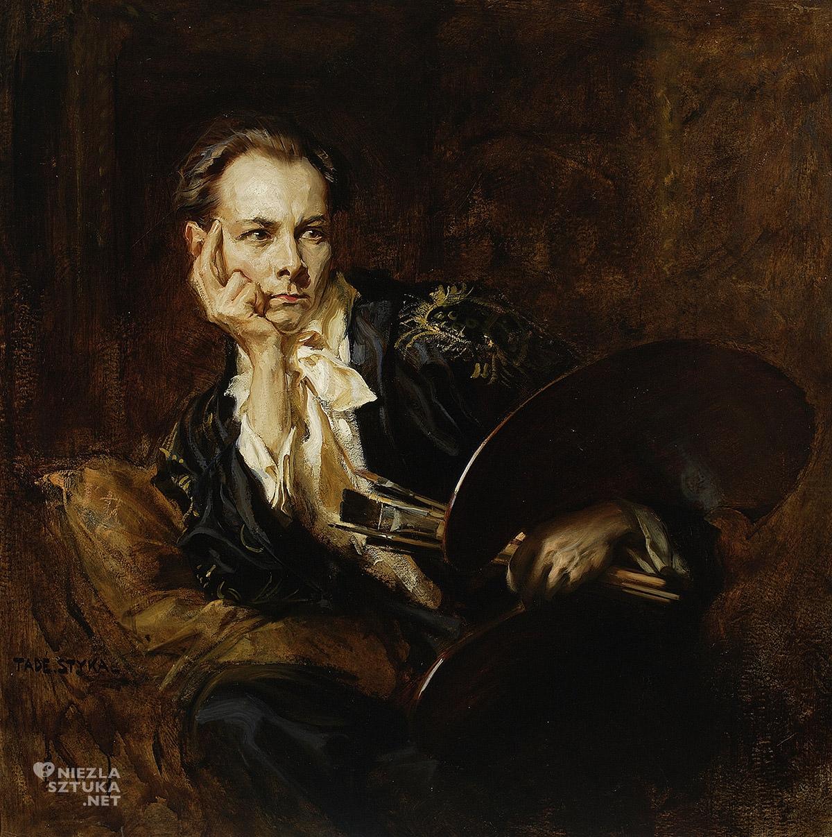 Tadeusz Styka, Autoportret, sztuka polska, malarstwo polskie, Niezła Sztuka