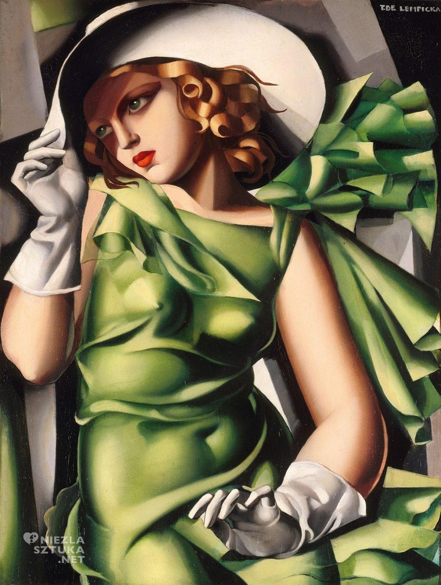 Tamara Łempicka, Dziewczyna w rękawiczkach, kobiety w sztuce, Tamara de Lempicka, sztuka polska, Niezła Sztuka