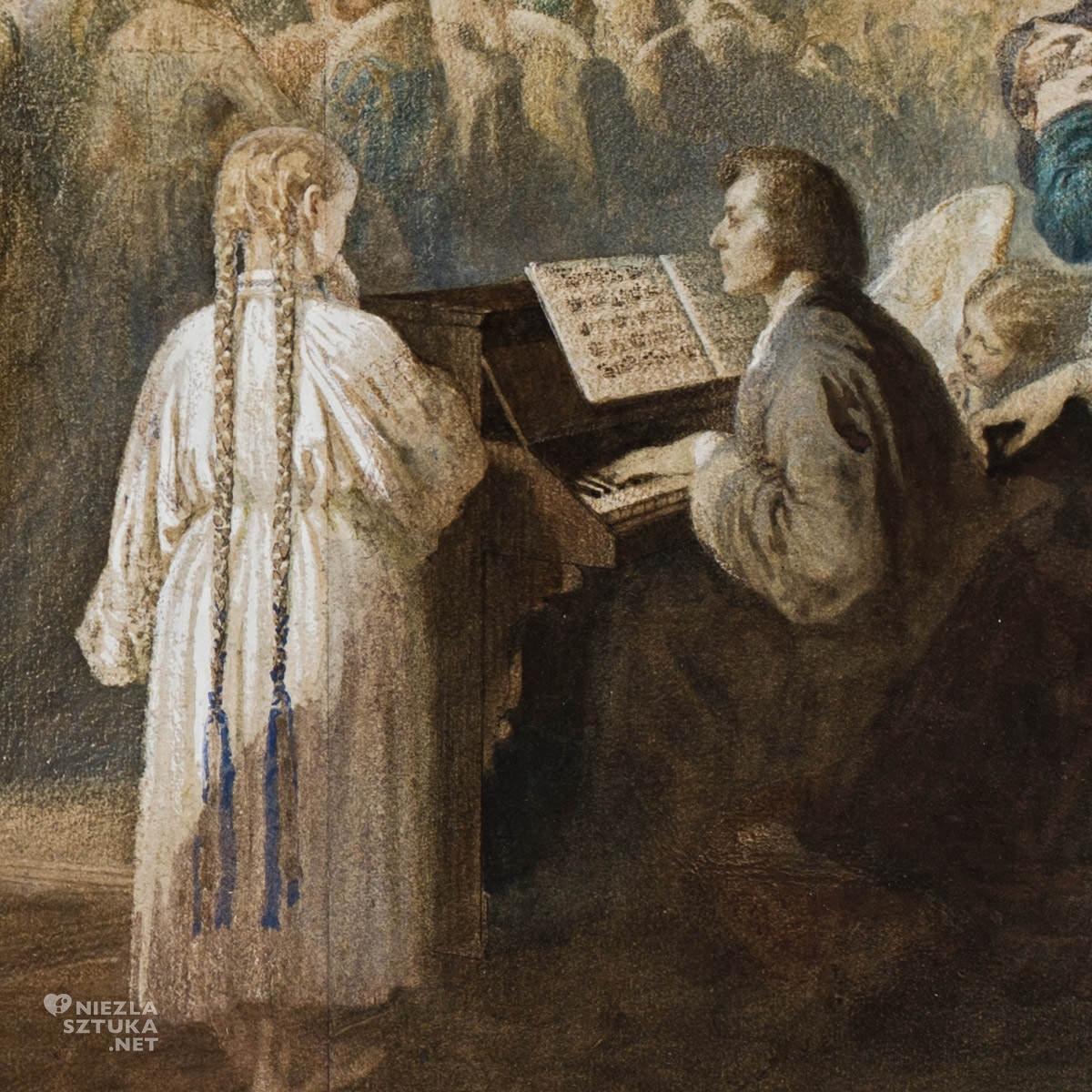 Teofil Kwiatkowski, Bal w Hôtel Lambert w Paryżu, Polonez Chopina, sztuka polska, malarstwo polskie, Niezła Sztuka