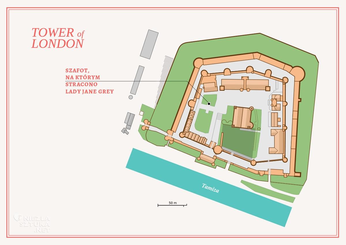 tower of london, Lady Jane Grey, szafot Londyn, miejsce egzekucji, niezła sztuka