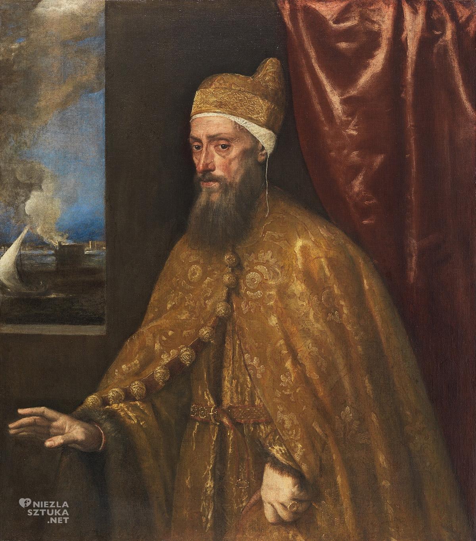 Tycjan, Portret doży Franceso Veniera, renesans, Wencja, sztuka włoska, Niezła Sztuka