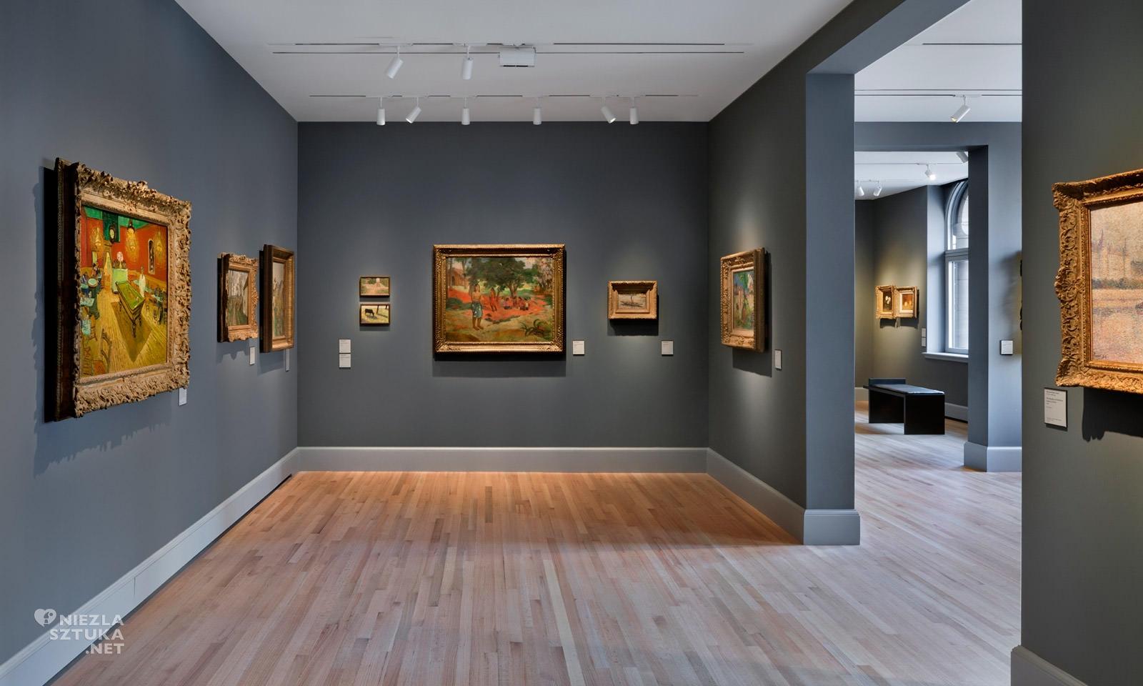 Vincent van Gogh, Nocna kawiarnia, muzeum, Yale University Art Gallery, New Haven, Niezła Sztuka