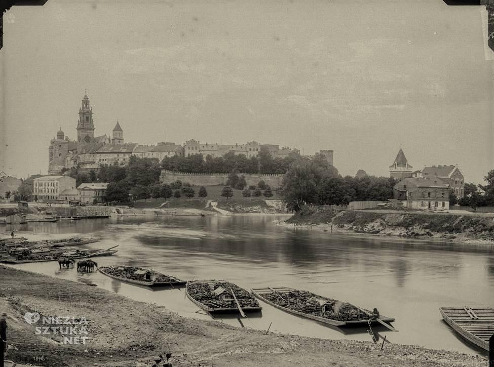 Wawel, Wisła, galary, Ignacy Krieger, fotografia, Kraków, Niezła sztuka