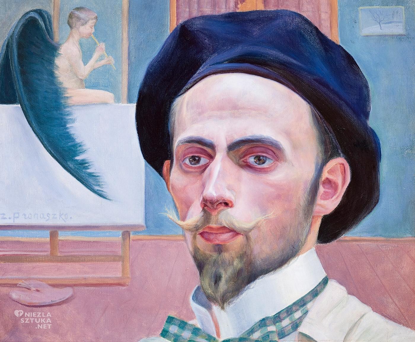 Zbigniew Pronaszko, Autoportret, malarstwo polskie, malarstwo XX w., Niezła Sztuka