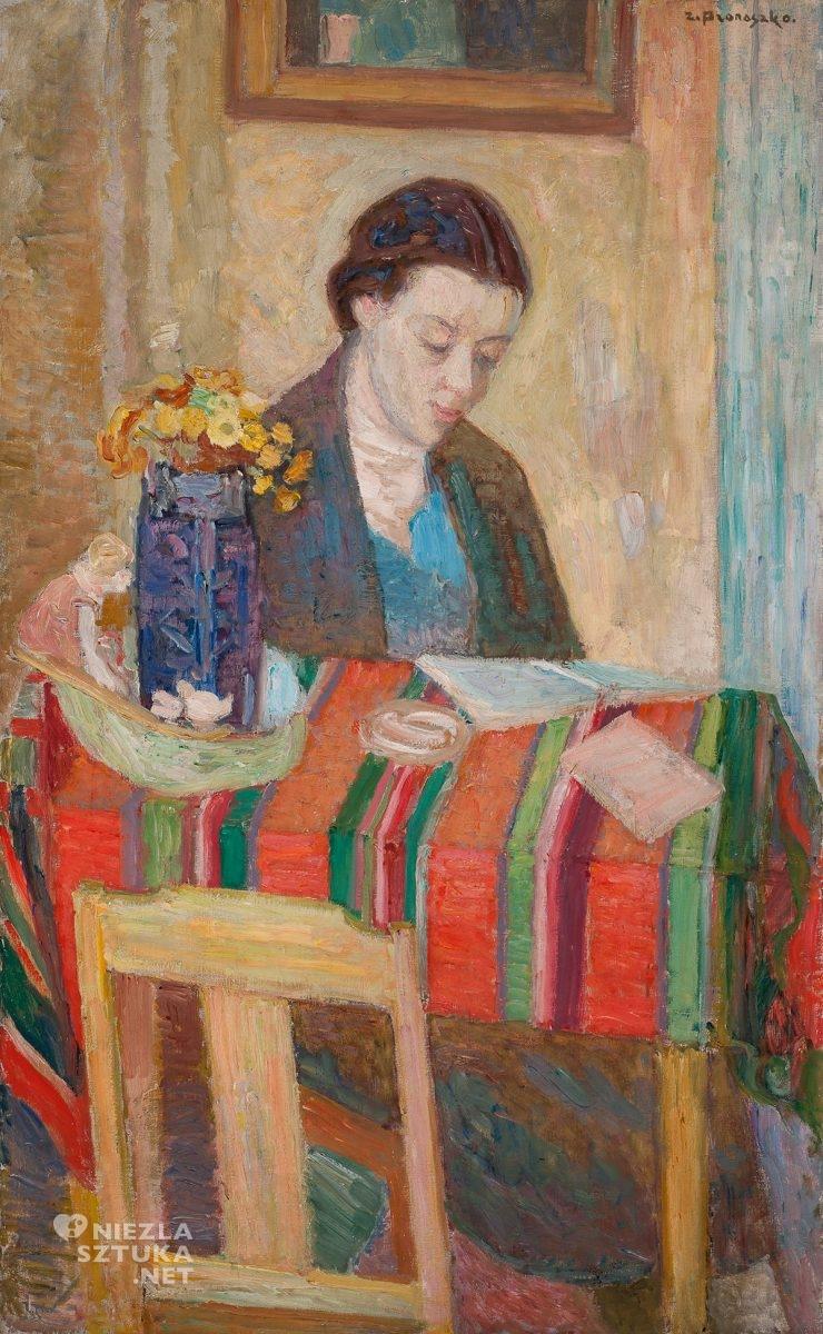 Zbigniew Pronaszko, Portret żony, sztuka polska, niezła sztuka