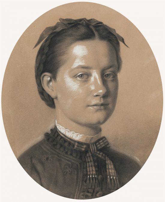 Artur Grottger, Portret Heleny Kochanowskiej, sztuka polska, XIX wiek, Niezła Sztuka