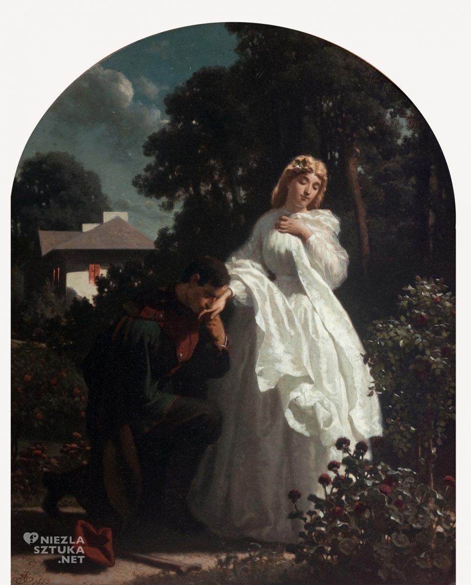 Artur Grottger, Rok 1863, Powitanie, romantyzm, sztuka polska, Niezła Sztuka