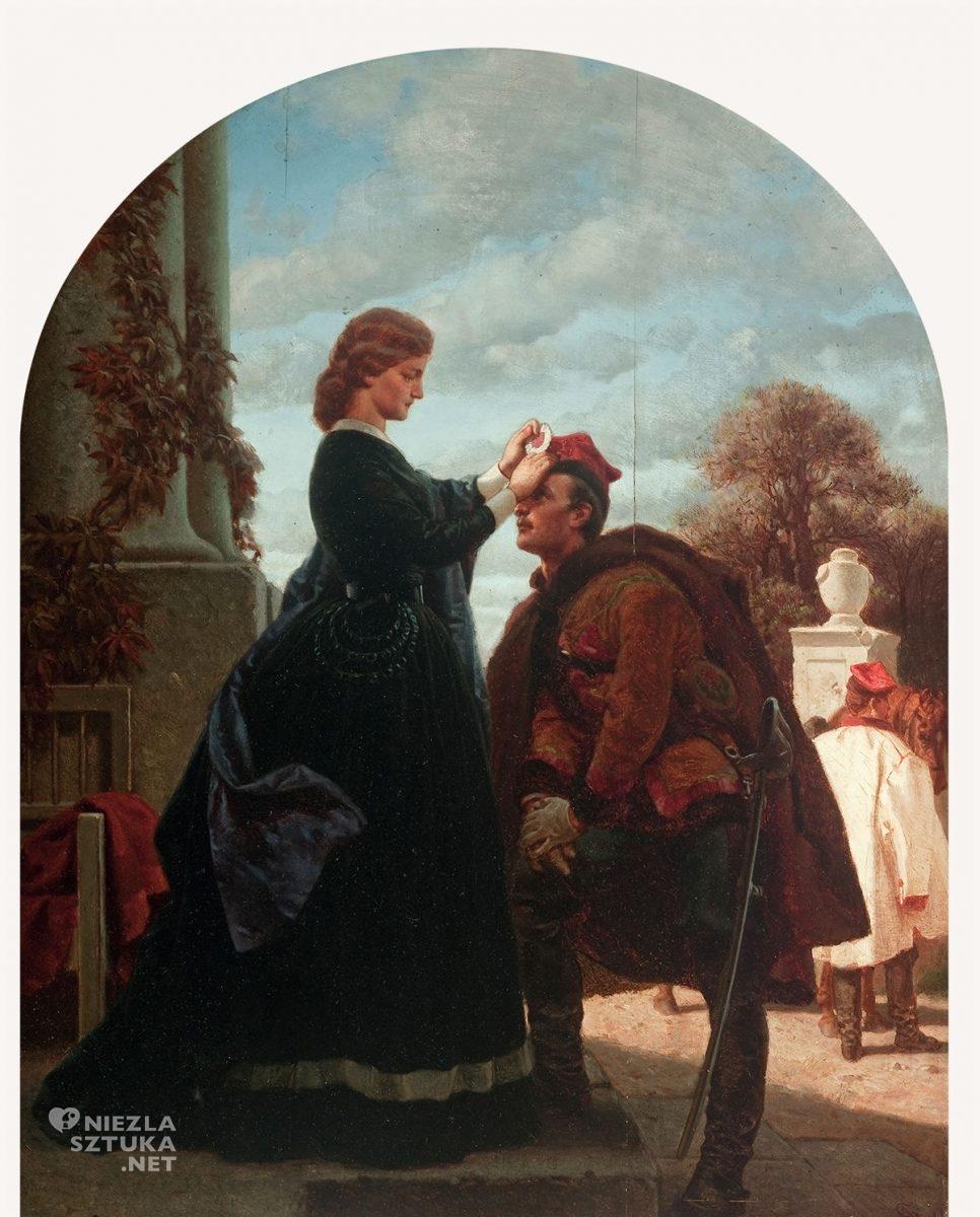 Artur Grottger, Rok 1863 Pożegnanie, romantyzm, sztuka polska, Niezła Sztuka