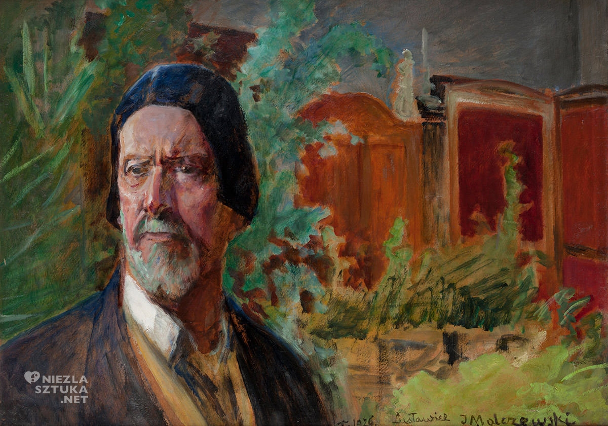 Jacek Malczewski, Autoportret, sztuka polska, malarstwo polskie, Niezła Sztuka