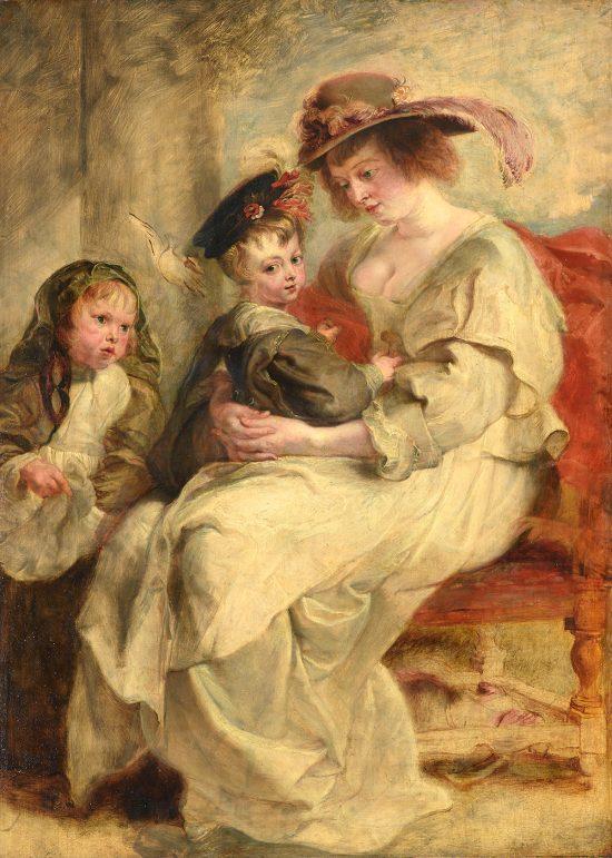 Peter Paul Rubens, Helena Fourment z dziećmi, sztuka flamandzka, Niezła Sztuka
