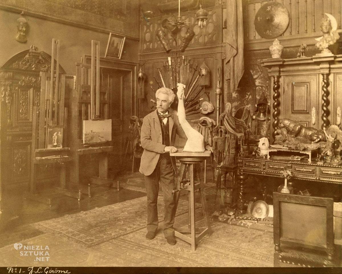 Jean-Léon Gérôme, atelier, Paryż, sztuka francuska, akademizm, Niezła Sztuka