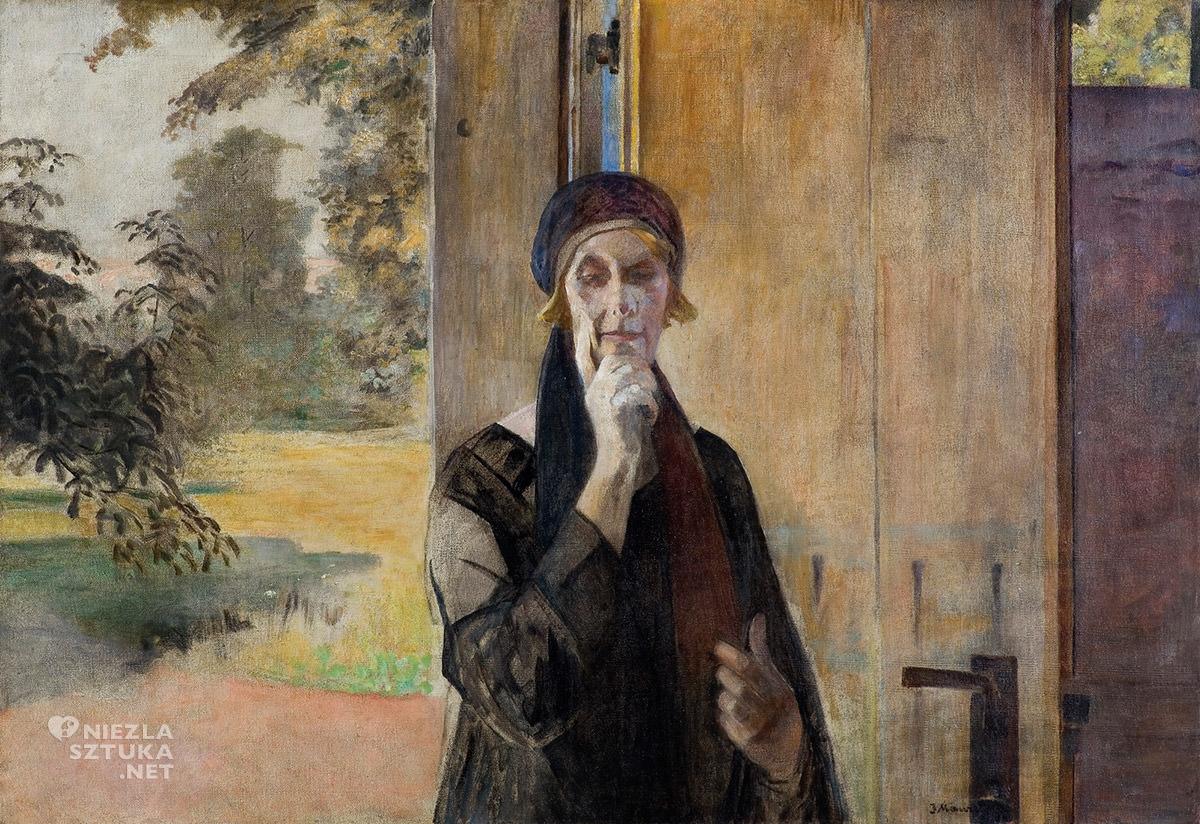 Jacek Malczewski, Portret żony, sztuka polska, malarstwo polskie, Niezła Sztuka