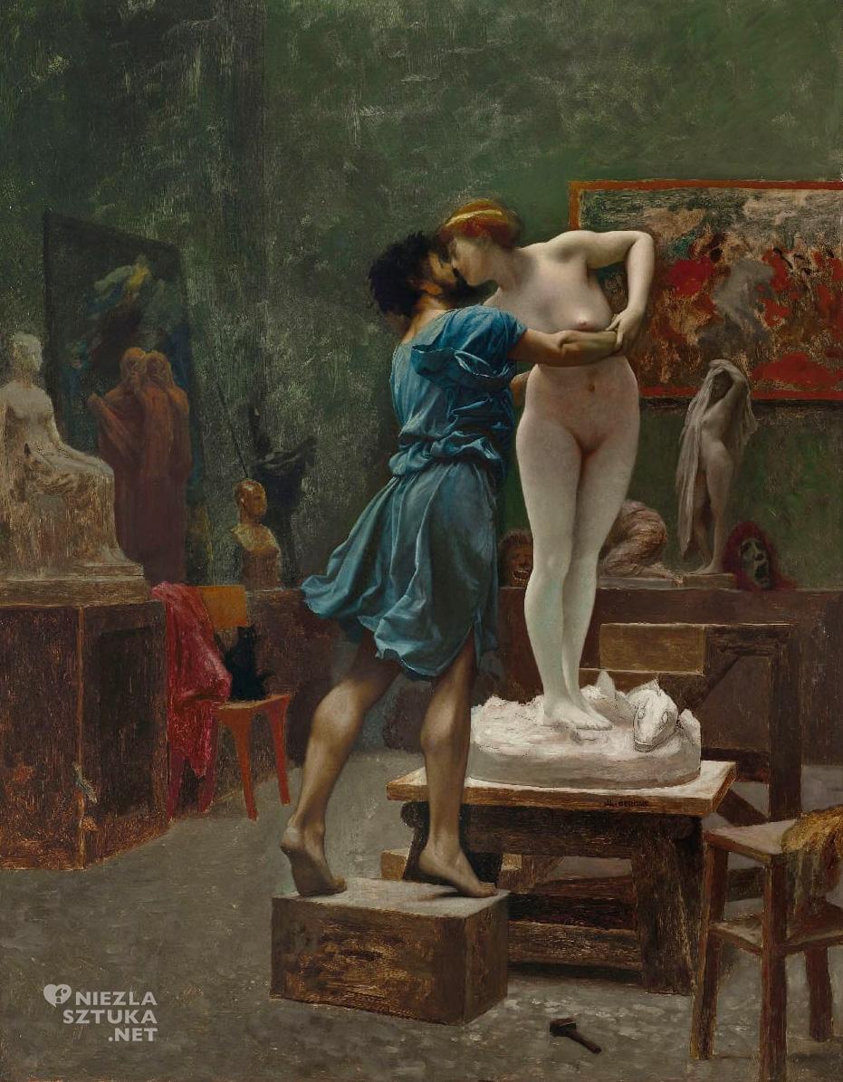 Jean-Leon Gerome, Pigmalion i Galatea, sztuka francuska, malarstwo europejskie, Niezła Sztuka