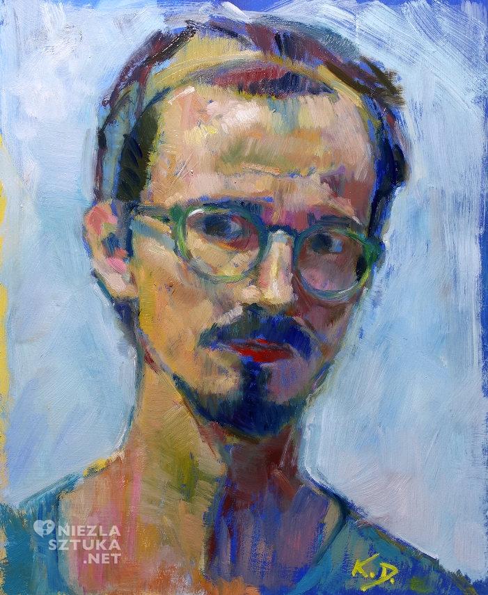 Karol Franciszek Dobrowolski, Supraśl, artysta malarz, sztuka polska, młoda sztuka, Autoportret, niezła sztuka