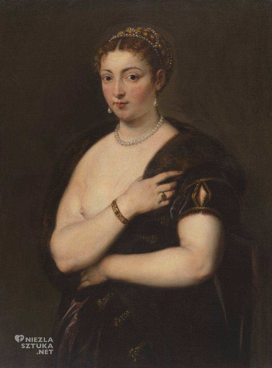 Peter Paul Rubens, kobieta w futrze, kopia wg Tycjana, Brisbane, Australia, niezła sztuka