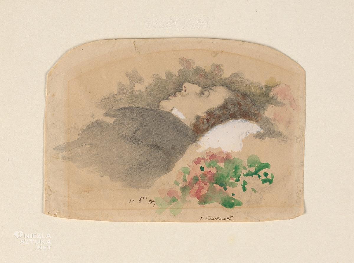 Teofil Kwiatkowski, Fryderyk Chopin, portret, Muzeum Chopina, Warszawa, niezła sztuka