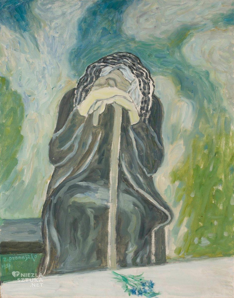 Zbigniew Pronaszko, Matka, malarstwo polskie, malarstwo XX w., malarstwo współczesne, portret, awangarda, Niezła Sztuka