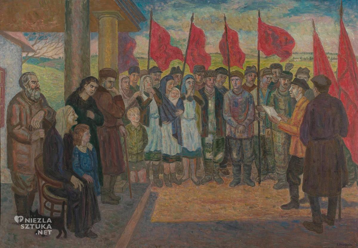 Zbigniew Pronaszko, Reforma rolna, malarstwo polskie, malarstwo XX w., malarstwo współczesne, scena rodzajowa, awangarda, Niezła Sztuka