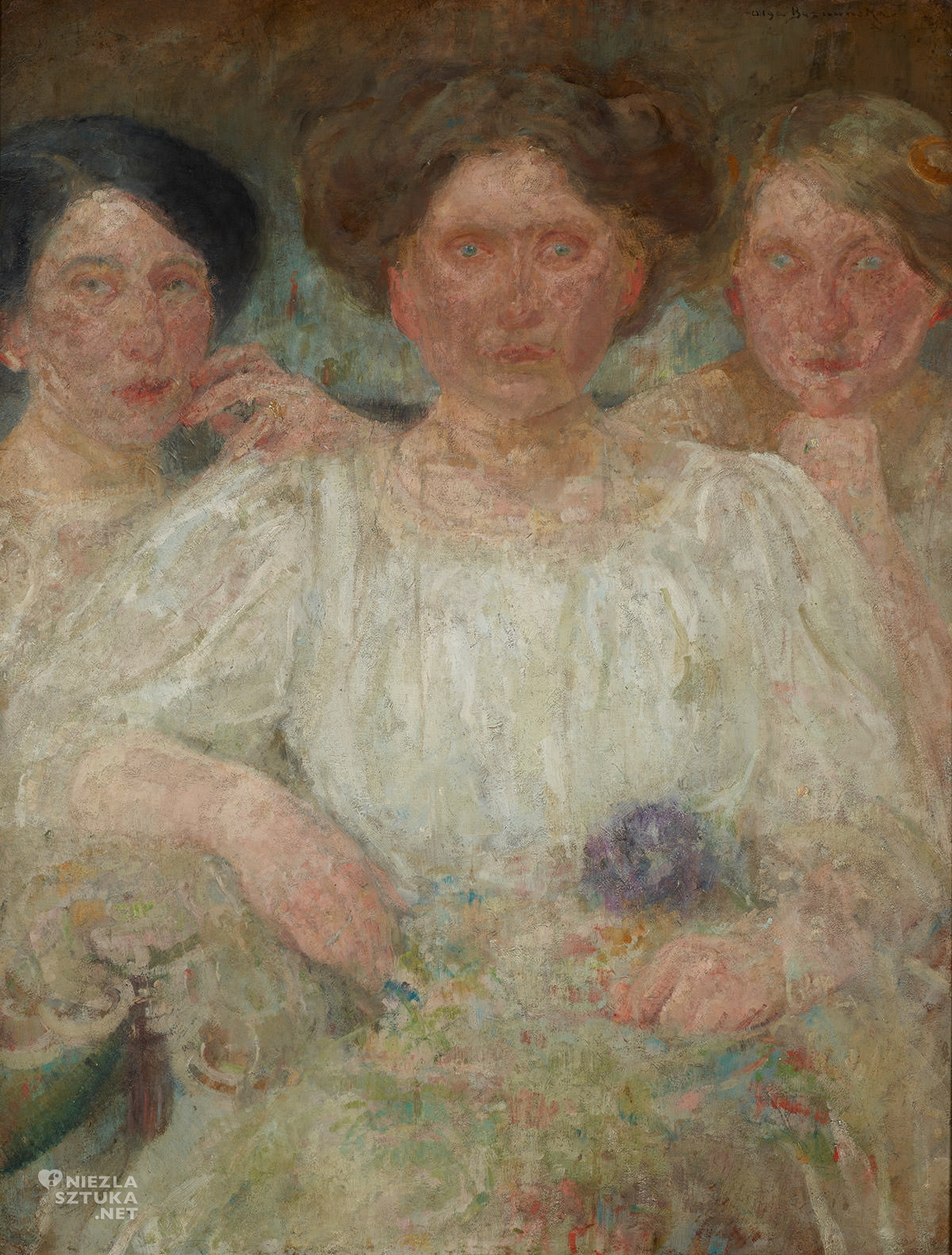 Olga Boznańska, Portret trzech sióstr, Alicja Halicka, kobiety w sztuce, sztuka polska, Niezła Sztuka