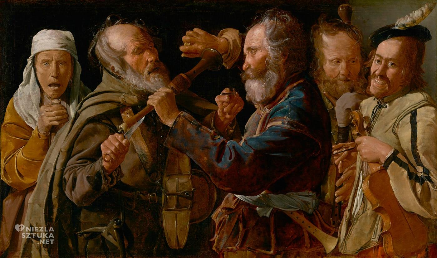 George de La Tour, Bójka muzykantów, sztuka francuska, barok, Niezła Sztuka