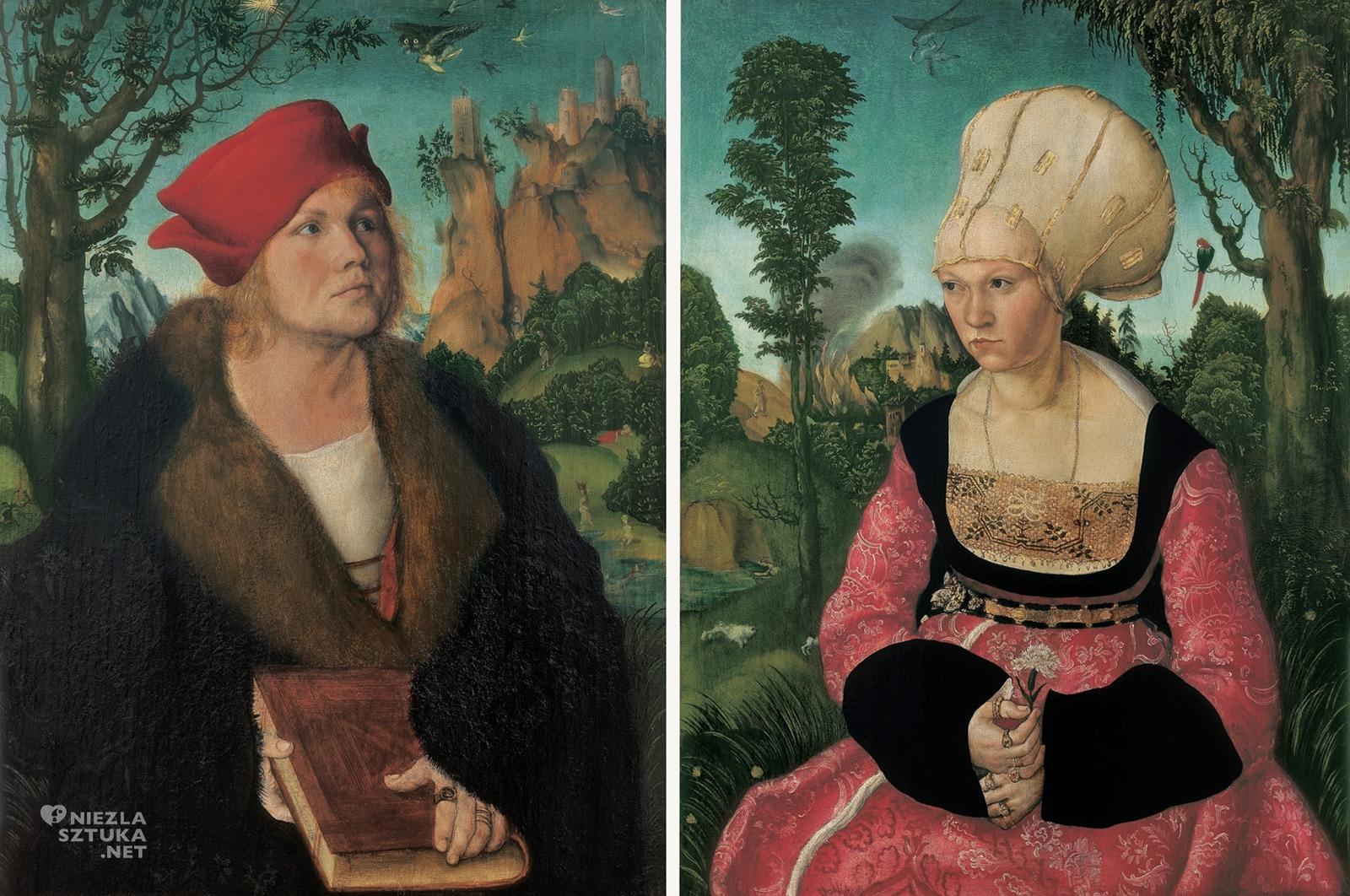 Lucas Cranach starszy, Portret Johannesa i Anny Cuspinianów, Johannes Cuspinian, sztuka niemiecka, Niezła sztuka